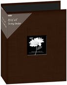 "Brown - Fabric 3-Ring Binder Album 8.5""X11"""