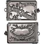 "Antique Nickel - Idea-Ology Locket Book 2""X1"""