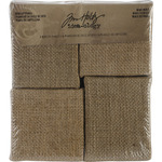"Idea - Ology District Market Mini Bare Burlap Panels 4/Pkg-(2) 3""X3"" & (2) 2.75"""