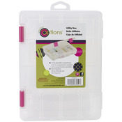 """Creative Options Pro Latch Utility Box 4-16 Compartments-9""""X7""""X2"""" Clear W/Magent"""