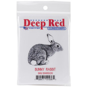 Bunny Rabbit - Deep Red Cling Stamp