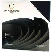 Black Seasonal 12 x 12 Cardstock Pack - American Crafts