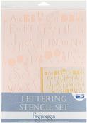 Fashionista - Lettering Stencil Sets