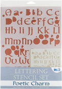 Poetic Charm - Lettering Stencil Sets