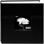 "Deep Black - Cloth Photo Album W/Frame 9""X9"""