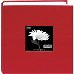 "Apple Red - Cloth Photo Album W/Frame 9""X9"""