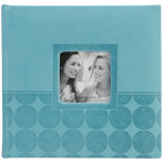 "Aqua Circles - Embossed 2-Up Photo Album 4""X6"" 200 Pockets"