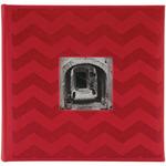 "Red Chevron - Embossed 2-Up Photo Album 4""X6"" 200 Pockets"