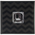 "Black Chevron - Embossed 2-Up Photo Album 4""X6"" 200 Pockets"