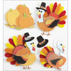 Turkey Characters - Jolee's Harvest Stickers