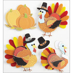 Turkey Characters - Jolee's Harvest Stickers