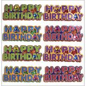 Happy Birthday Words - Jolee's Mini Repeats Stickers