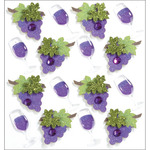 Wine Glasses & Grapes - Jolee's Mini Repeats Stickers