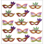 Mardi Gras Masks - Jolee's Mini Repeats Stickers