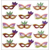 Mardi Gras Masks - Jolee's Mini Repeats Stickers