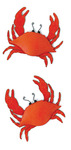 """Crabs - Jolee's By You Dimensional Embellishments 2""""X4"""" Sheet"""
