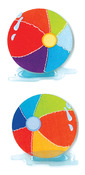 "Beach Balls - Jolee's By You Dimensional Embellishments 2""X4"" Sheet"