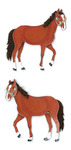 """Horses - Jolee's By You Dimensional Embellishments 2""""X4"""" Sheet"""
