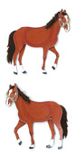 "Horses - Jolee's By You Dimensional Embellishments 2""X4"" Sheet"