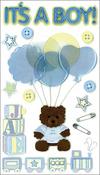 It's A Boy - Jolee's Boutique Dimensional Stickers