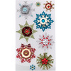 Embellished Snowflakes - Jolee's Christmas Stickers