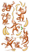 Dancing Monkeys Classic Stickers - Sticko Stickers