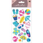 Polka Dot Beach Classic Stickers - Sticko Stickers