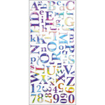 Watercolor - Sticko Alphabet Stickers