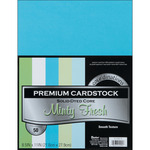 """Minty Fresh - Smooth - Core'dinations Value Pack Cardstock 8.5""""X11"""" 50/Pkg"""