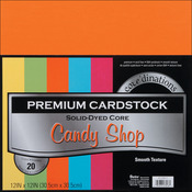 "Candy Shop - Smooth - Core'dinations Value Pack Cardstock 12""X12"" 20/Pkg"