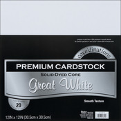 """Great White - Smooth - Core'dinations Value Pack Cardstock 12""""X12"""" 20/Pkg"""