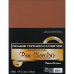 "Pure Chocolate - Textured - Core'dinations Value Pack Cardstock 8.5""X11"" 40/Pkg"