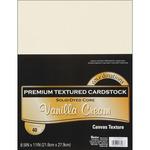 """Vanilla Cream - Textured - Core'dinations Value Pack Cardstock 8.5""""X11"""" 40/Pkg"""