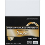 "Snowcap - Textured - Core'dinations Value Pack Cardstock 8.5""X11"" 40/Pkg"