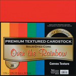 """Over The Rainbow - Textured - Core'dinations Value Pack Cardstock 12""""X12"""" 20/Pkg"""