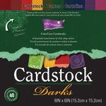 "Darks - Core'dinations Core Essentials Cardstock Pad 6""X6"" 40/Pkg"