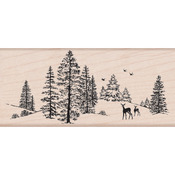 Winter Scene - Hero Arts Mounted Rubber Stamps