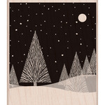 Winter Moon - Hero Arts Mounted Rubber Stamps
