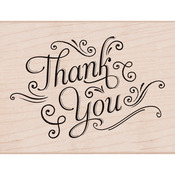 Thank You With Flourishes - Hero Arts Mounted Rubber Stamps