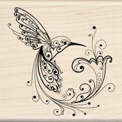 Hummingbird - Inkadinkado Mounted Rubber Stamp