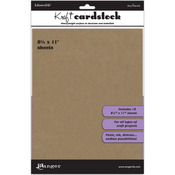 "8.5""X11"" - Inkssentials Kraft Surfaces 10/Pkg"
