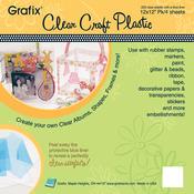 "Clear .020 - Craft Plastic Sheets 12""X12"" 4/Pkg"