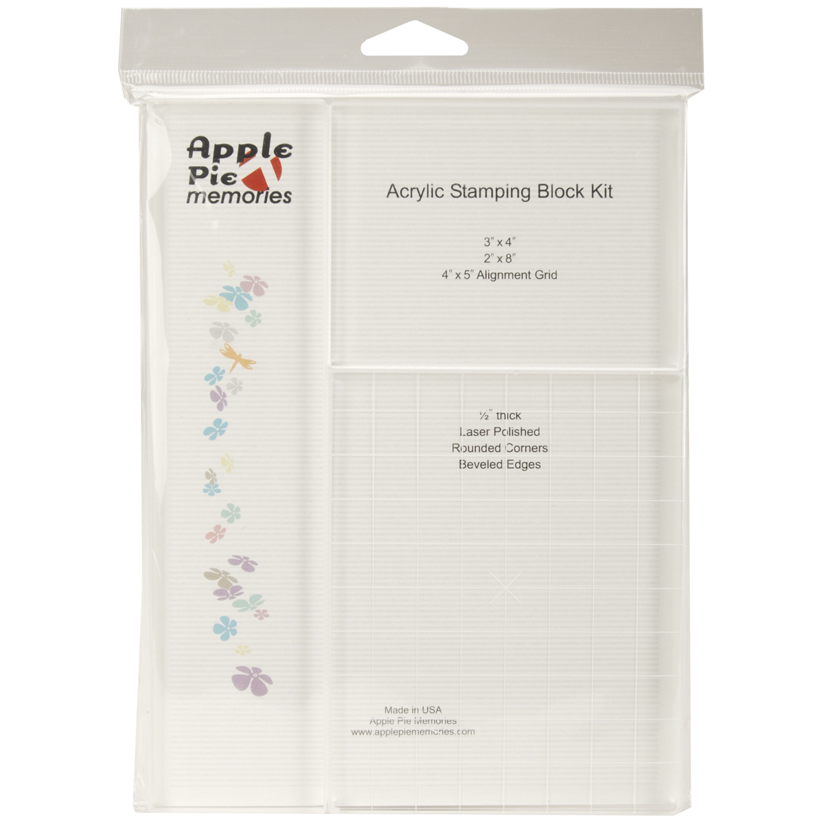 Apple Pie Memories Acrylic Stamp Block Set 3/Pkg