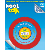 """.125""""X16yd - Kool Tak Ultra Clear Tape"""