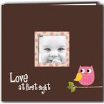 Pink Baby Owl 12 X 12 Scrapbook Album
