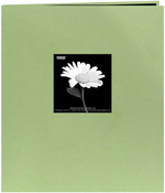 "Sage Green - Fabric Frame Post Bound Scrapbook 8.5""X11"""
