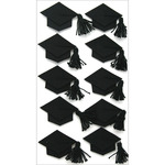 Black Graduation Caps - Jolee's Seasonal Stickers