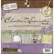 """Chateau Lavender - Paper Stack 12""""X12"""" 48/Pkg"""