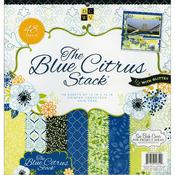 """Paper Stack 12""""X12"""" 48/Pkg - Blue Citrus"""