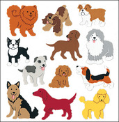 Dogs - SandyLion Classpak Stickers 3/Pkg